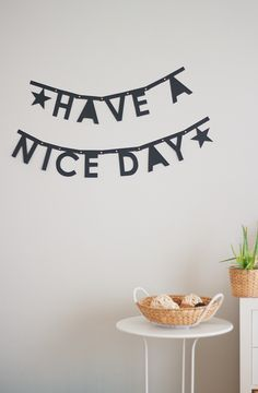 DIY letter banner made from paper - super easy and customizable!