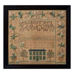 New Hampshire House Sampler, 1832   From a unique collection of antique and modern textiles and quilts at http://www.1stdibs.com/furniture/more-furniture-collectibles/textiles-quilts/