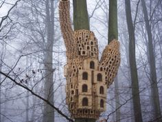 7 Unique Bird Houses You Wish You Could Move Into - London Fieldworks  Read more: http://www.rd.com/slideshows/unique-bird-houses/#ixzz33i03omcy