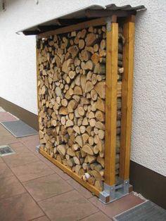 Brennholzunterstand Bauanleitung zum selber bauen