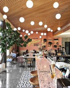 the future is now ✨ - Store & Restaurant Design - Coffee Shop Interior Design, Commercial Interior Design, Commercial Interiors, Interior Shop, Restaurant Concept, Restaurant Design, Resturant Interior, Brewery Interior, Food Court Design
