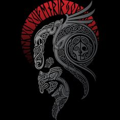Discover Viking Art Valhalla Awaits T-Shirt from Viking Store, a custom product made just for you by Teespring. - Beautiful and quality Viking Art - Valhalla. Viking Symbols, Viking Art, Viking Runes, Mayan Symbols, Egyptian Symbols, Ancient Symbols, Tatoo Art, Body Art Tattoos, Tribal Tattoos
