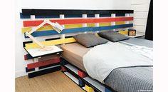 Déco palettes : DIY faciles - Meubles - objets déco - idées Palette, Bunk Beds, Creations, Diy, Furniture, Home Decor, Home Decoration, Headboards, Objects