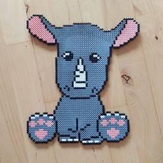 Rhino hama beads by frk.freja