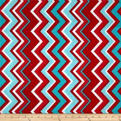 Michael Miller Chevy Chevron Aqua from @fabricdotcom  Designed for Michael Miller Fabrics, this fabric is perfect for quilting, apparel and home décor accents.  Colors include red, aqua, teal and white.