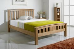 Royal Ascot Solid Oak Bed Frame 4ft6 - Double | The Oak Bed Store