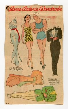 78.2361: Jane Arden's Wardrobe-Jane & Man | paper doll | Paper Dolls | Dolls | National Museum of Play Online Collections | The Strong