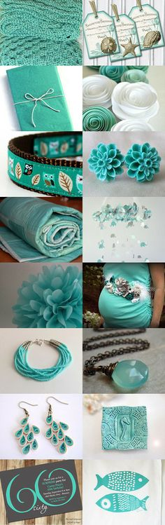 Teal by Valérie Bijoux Elkasa on Etsy--Pinned with TreasuryPin.com