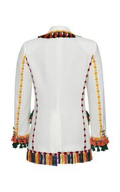 Tapestry Embroidered Classic Jacket by Rossella | Moda Operandi