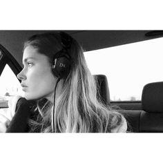 Doutzen Kroes Puts on Her Signature Headphones
