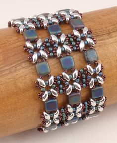 Beading Tutorial for Lattice Gates Beadwoven Bracelet,  jewelry pattern, beadweaving tutorials, instant download, PDF by njdesigns1 on Etsy https://www.etsy.com/uk/listing/152527967/beading-tutorial-for-lattice-gates
