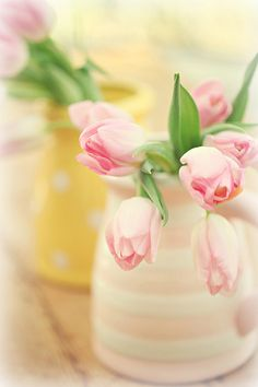 Lovely spring tulip arrangements...