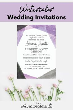 This wedding invitation is perfect for couples who are looking for a whimsical yet edgy design. Create one with us today! Simple Wedding Invitations, Watercolor Wedding Invitations, Invites, Wedding Announcements, Whimsical, Place Card Holders, Couples, Create, Design