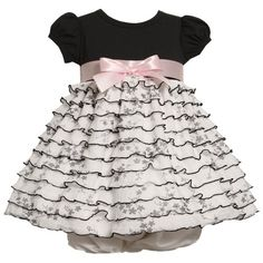 Size-3/6M BNJ-5206B 2-Piece BLACK WHITE FLORAL PRINT EYELASH-RUFFLES Special Occasion Flower Girl Party Dress B05206 Bonnie Jean Baby/NEWBORNFrom #Bonnie Jean List Price: $48.00Price: $33.60 Availability: Usually ships in 1-2 business daysShips From #and sold by iPovePou Boutique