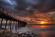 Photographs - Oceanside Pier Perfect Sunset  by Peter Tellone