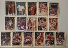 1991-92 Upper Deck Series 1 Atlanta Hawks Team Set Of 16 Basketball Cards #AtlantaHawks