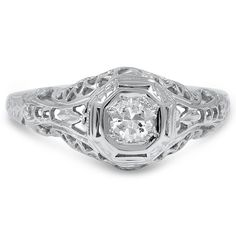 18K White Gold The Ronni Ring from Brilliant Earth
