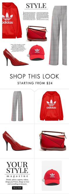 """""""Statement Bags #4: Loewe x Balenciaga x Adidas x  Monse"""" by mariluz-garcia ❤ liked on Polyvore featuring Monse, adidas Originals, Balenciaga, Loewe, Pussycat, adidas and statementbags"""