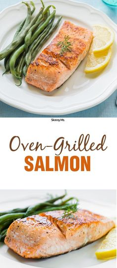 It doesn't get much easier than this Oven-Grilled Salmon! Salmon is high in omega-3's which are not super prevalent in other foods, plus it's high in protein.