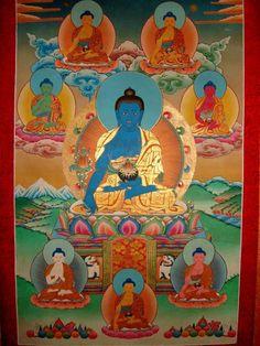 The eight Medicine Buddhas