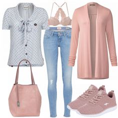 Rose outfit - spring outfits at FrauenOutfits.de - Spring outfits: Rose at FrauenOutfits. Girly Outfits, Casual Outfits, Fashion Outfits, Cozy Winter Outfits, Spring Outfits, Traje Casual, Coat Outfit, Hijab Style, Stylish Eve