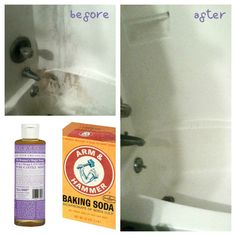 Cleaning DIY Soap Scum Remover – natural soft scrub alternative « Re-Grow Roots How Fire-Safe Is You Diy Shower Cleaner, Diy Bathroom Cleaner, Mold In Bathroom, Bathroom Cleaning, Bathrooms, Baking Soda Cleaning, Cleaning Recipes, Cleaning Hacks, Cleaning Supplies