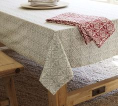 Dotson Tablecloth | Pottery Barn