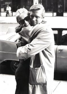 Audrey Hepburn and George Peppard, set of Breakfast at Tiffany's.