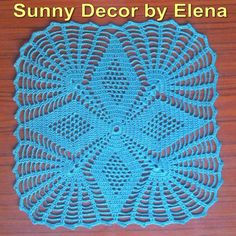 Crochet doily -  Square doilies - Turquoise - Home decor - Turquoise crochet doilies - Handmade - Handmade tablecloth Handmade crochet doilies Crochet Crochet doily handmade tablecloth Turquoise Turquoise doilies square doilies Home decor 11.00 USD #goriani