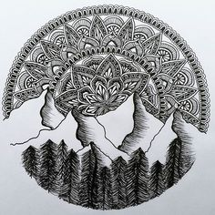 Horn Cap You are in the right place about cute Mandala Drawing Here we offer you the most beautiful Doodle Art Drawing, Zentangle Drawings, Mandala Drawing, Pencil Art Drawings, Art Drawings Sketches, Zentangle Patterns, Doodles Zentangles, Mandala Doodle, Doodle Patterns