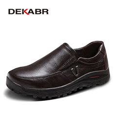 DEKABR Mens Genuine Leather Shoes Business Dress Moccasins Flats Slip On New Mens Casual Shoes Dress Mens Business Shoes 38-48 (32257539781)  SEE MORE  #SuperDeals