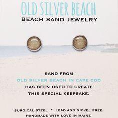 Old Silver Beach Sand Jewelry - Cape Cod