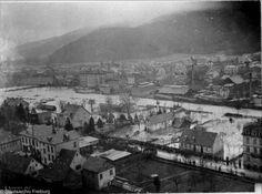 Freiburger Hochwasser 1896    Das Hochwasser von 1896 war das schlimmste der Neuzeit. Auch Freiburg hatte damals einige Schäden zu beklagen.