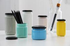 painted jars storage idea