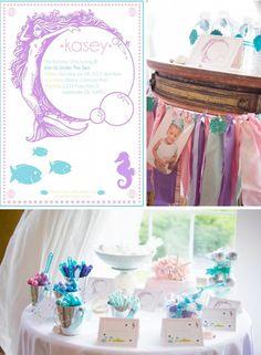 Whimsical Mermaid Party Full of Really Cute Ideas via Kara's Party Ideas   KarasPartyIdeas.com #UnderTheSea #Ocean #Party #Ideas #Supplies