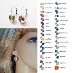 Choose Your Colour -- Swarovski Crystal Leverback Earrings (Sparkle-2626)…