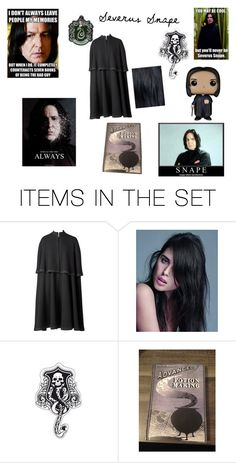 """""""Professor Severus Snape"""" by aliceusa ❤ liked on Polyvore featuring art and always"""