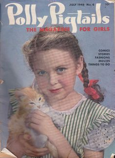 """Polly Pigtails - The Magazine for Girls"" - July 1946 issue cover"