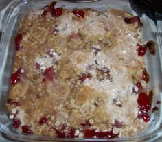 Fall is officially in the air. The low temperature last night was is in the upper 40s with a high in 70s. This is my kind of weather. Craving cherry crisp, I went to my blog to search for the recip...
