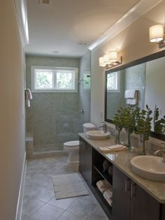 Modern Narrow Bathroom Interior Small Window Kitchen Bath | Home Deco Ideas