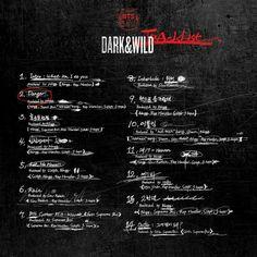 BTS new album 'dark and wild' tracklist~~ bangtan boys # 방탄서년단