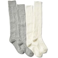 Cable knit knee high socks (2-pack) (16 CAD) ❤ liked on Polyvore featuring intimates, hosiery, socks, cable knee high socks, cable knit knee socks, cable knee socks, knee hi socks and cable knit knee high socks