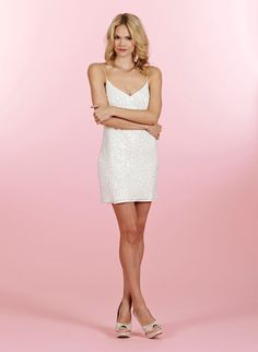 Style HP6459 > Bridal Gowns, Wedding dresses > Love Poets Society Collection > by Hayley Paige (Shown Ivory Sequin all over Slip dress without Ivory/Cashmere Lace A-line skirt & double Horsehair Trim with Chapel Train) #Poets Collection pieces can be Mixed & Matched with other Poets Styles#