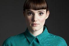 Stephanie Davidson's Masters fashion + textile collection    Screen Print   Scottish Graduate   Glasgow School of Art