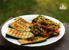 Oczyszczanie dietą dr Dąbrowskiej - dzień 3 - ZAKRĘCONY WEGE OBIAD - wegański catering i blog Atkins, Food For Thought, Vegan Vegetarian, Risotto, Zucchini, Food And Drink, Health Fitness, Nutrition, Healthy Recipes