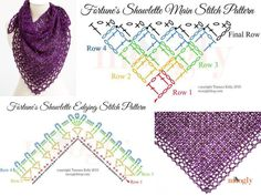 Fortune's shawlette diagram, a tutorial on:  http://www.mooglyblog.com/fortunes-shawlette-tutorial/