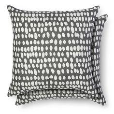 Room Essentials ™ 2 Pack Throw Pillow Dots - Sleek Gray