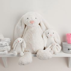 Bashful bunnies by jellycat are too soft to unhug kids easter huge white bashful bunny the white company uk negle Image collections