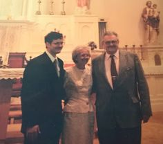Genealogical Gems: Wedding Wednesday: Hubby with his parents
