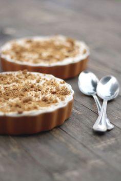 pumpkin pots de creme + spiced whipped cream